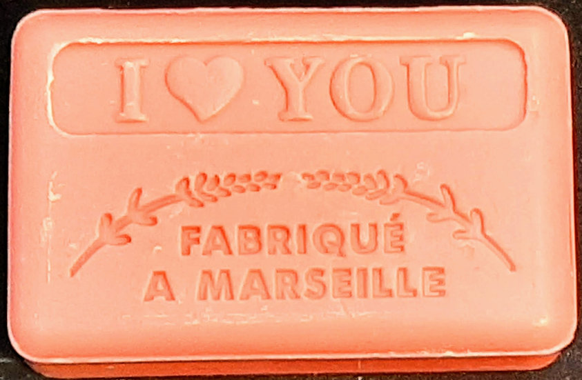 125g I Love You French Soap