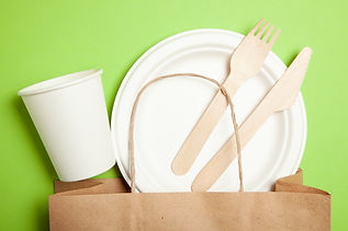 Eco-friendly disposable utensils made of