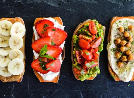 Sweet Potato Toasts 4 Ways Written by Jennifer Perillo Updated 12/16/19