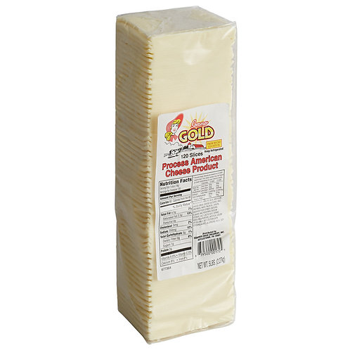 Pre-Sliced 120 Count White American Cheese