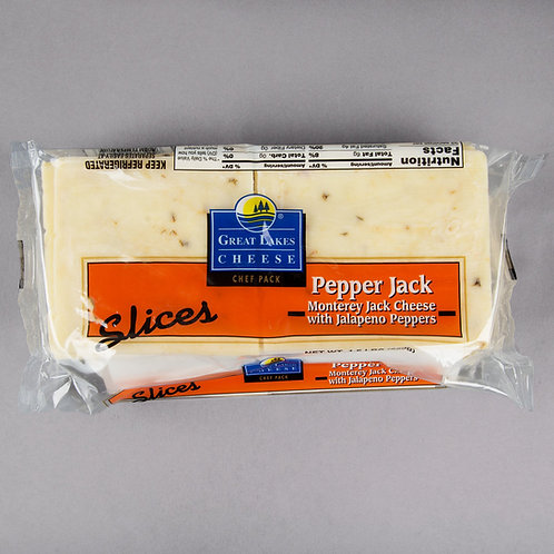 1.5 lb. Pepper Jack Cheese Slices