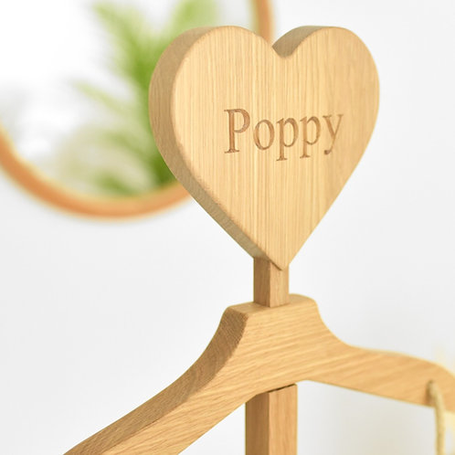 The Maxi - Natural Oak - Personalised Heart