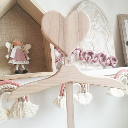 Whitewashed Original Heart Baby Hanger