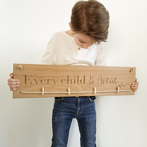 Every child is an Artist  - Natural Oak