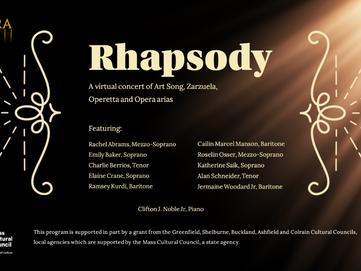 PANOPERA Presents: Rhapsody, a virtual recital