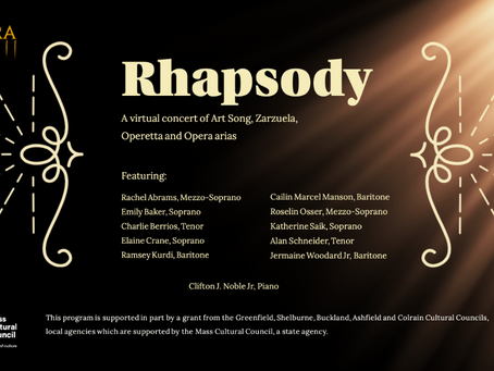 PANOPERA Presents: Rhapsody, a virtual recital