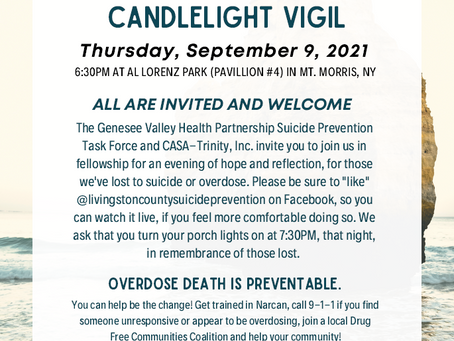 Annual Overdose and Suicide Awareness Candlelight Vigil