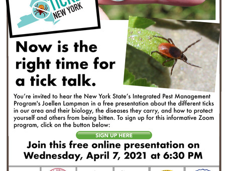 Now is the right time for a tick talk.