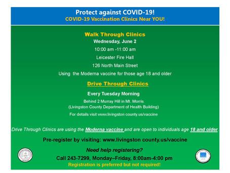 Walk-In COVID Vaccination Clinic