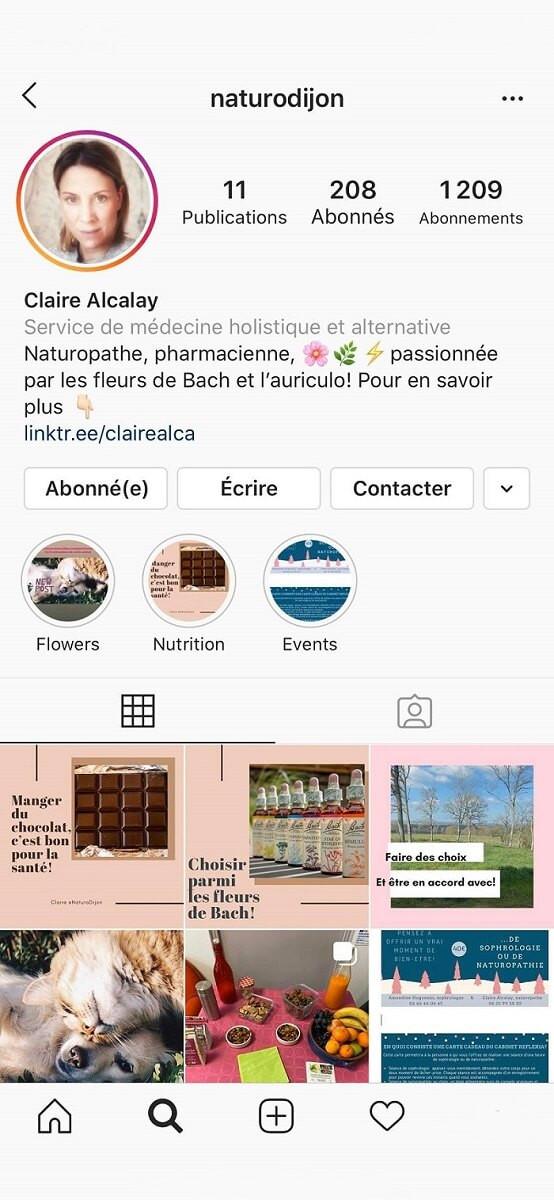 Claire Alcalay Instagram | Naturopathe Dijon