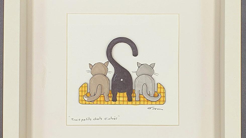 Trois petits chats cintrés