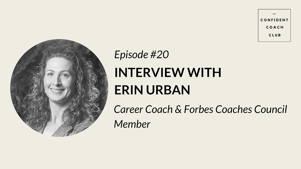 Cover Image Confident Coach Club Podcast Episode 20 Erin Urban