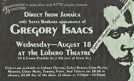 Gregory Isaacs & Roots Radics August 18t