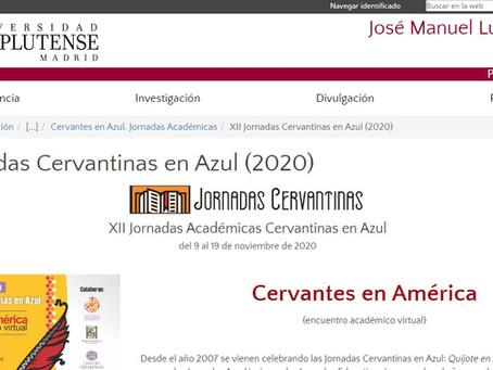 XII Jornadas Cervantinas en Azul (2020)