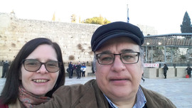 Jeruzsálem, a Siratófalnál