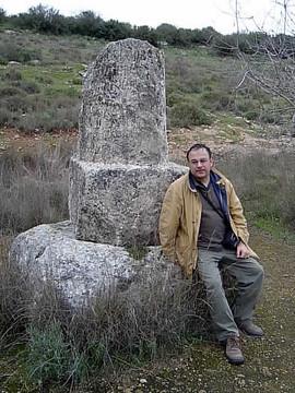 Galilea, egy római mérföldkő Bét Guvrin mellett