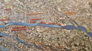 Our area on the model of the entire Hudson River and Valley. Located in the lower level.