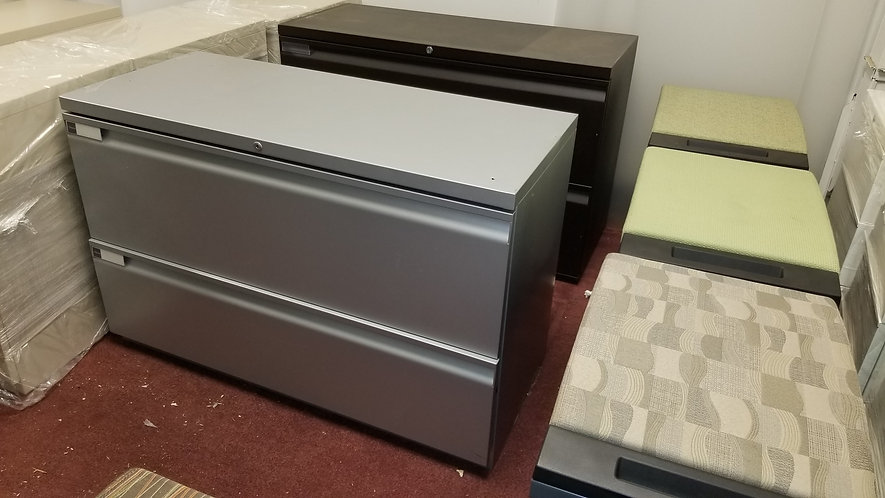"""42"""" Two-High Metal Lateral File by Teknion"""