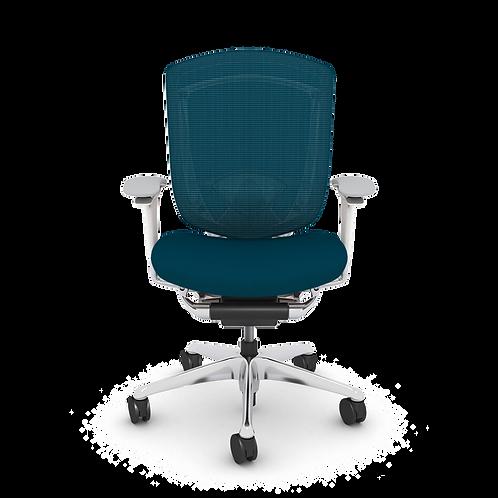 Nuova Contessa Upholstered Seat Task Chair, Polished Aluminum Frame & Base