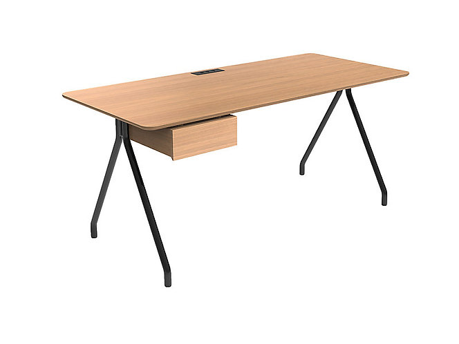 """Simple Writing Desk by HBF - 30""""H x 49""""W x 24""""D"""