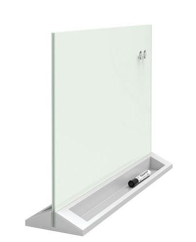 "Glass Dry-Erase Desktop Panel 17"" x 23"" by Quartet"