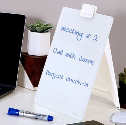 "Glass Dry-Erase Desktop Easel 9"" x 11"" by Quartet"