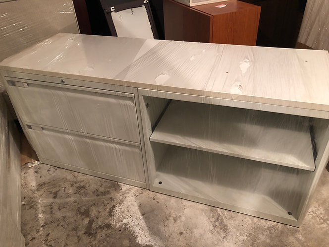 Low Open with Two Drawer Credenza by Teknion