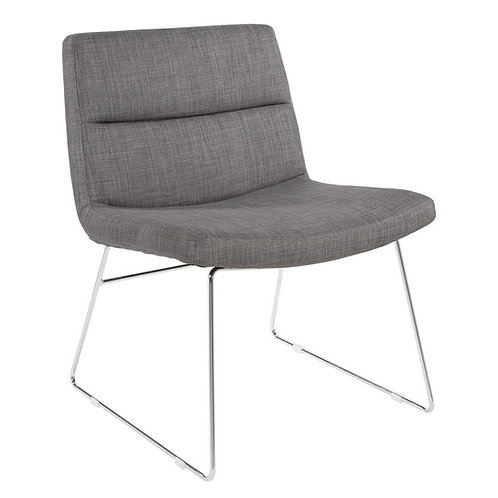 Fabric Lounge Sled Chair by Office Star