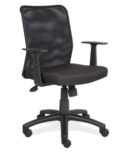 Mesh Back Task Chair with Black Base by OfficeSource