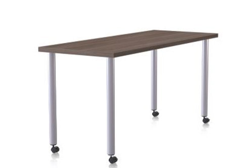 Special-T Ella Table 30x60 - Metallic Silver Legs