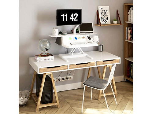 Sit Stand Smart Workstation 27 inch Motorized Height Adjustable by FlexiSpot