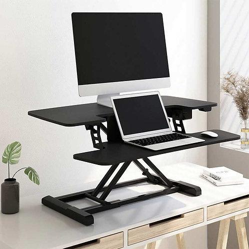 "40""W Motorized Sit-Stand Desk Converter, Black, by FlexiSpot"