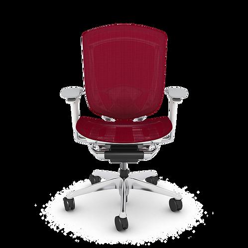 Nuova Contessa All-Mesh Task Chair, Polished Aluminum Frame & Base