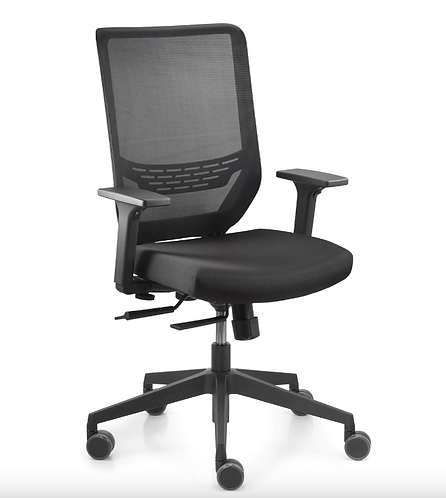 Sync 2 Desk Chair Black by Dauphin