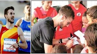 Álvaro de Arriba, campió d'Europa 800m, s'entrena a les nostres pistes.