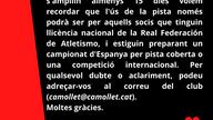 Comunicat CA Mollet