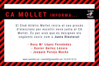 El CA Mollet informa...