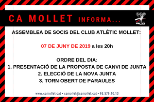 ASSEMBLEA DE SOCIS CA MOLLET