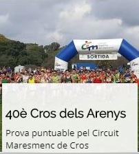 Competim al 40è Cros d'Arenys (Circuit Maresmenc)