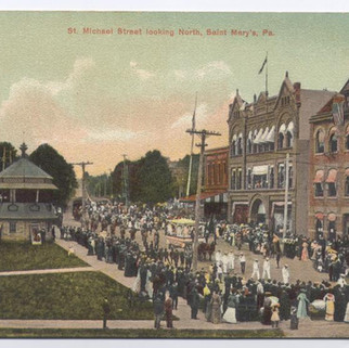 St. Michael Street looking N postcard St. Marys PA