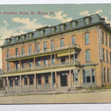 The Franklin Hotel Postcard St. Marys PA