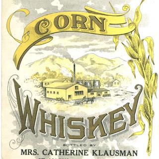 Corn Whiskey Label Mrs. Catherine Klausman St.