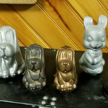 Animals made at  Stackpole Carbon CO. in different materials