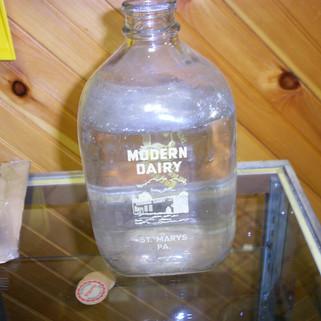 1 gallon Modern Dairy buttermilk milk bottle