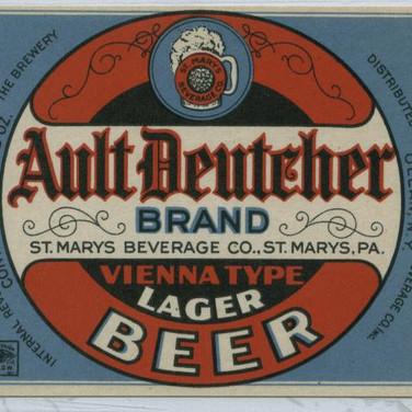 Ault Deutcher Beer Label St. Marys PA