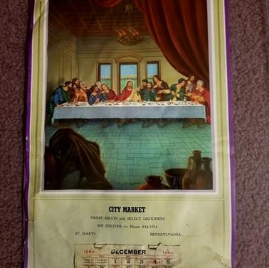 City Market calendar St. Marys PA 1964