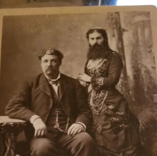 Mr. and Mrs. Myers Elk Co. Pa bearded woman
