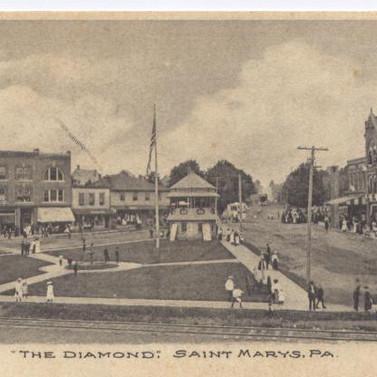 The Diamond postcard St. Marys PA