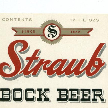 traub Bock Beer Label St. Marys PA