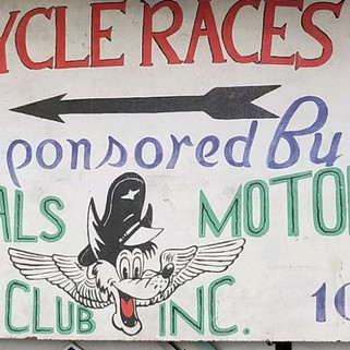 Saddle Pals motorcylce club hand painted wooden sign St. MArys PA